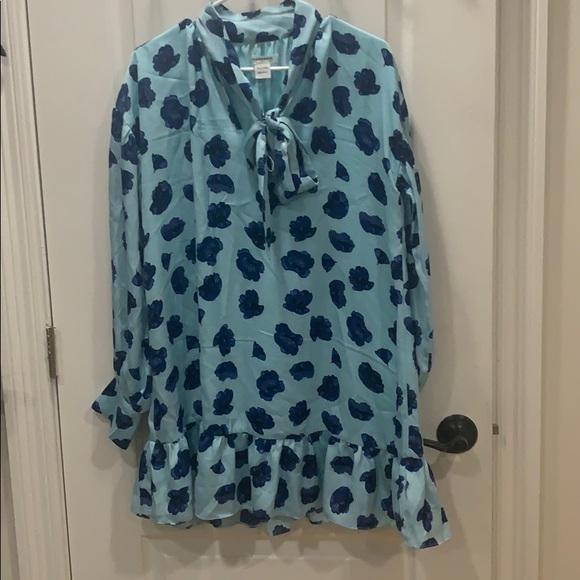 ASOS Blue Poppy Mini Dress